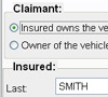 Insured/Claimant Tab